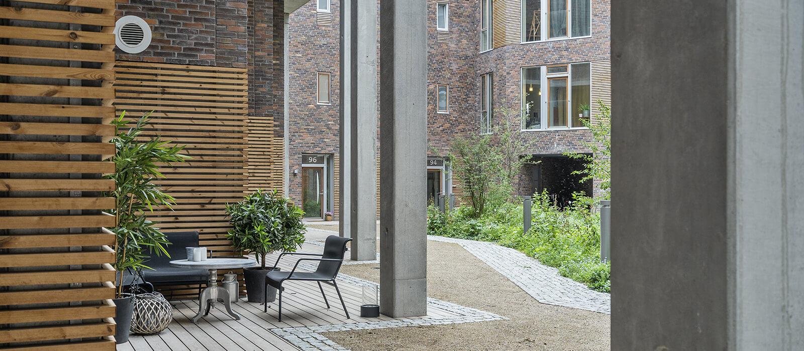 Helgagaard Bryggehusene Heimstaden terrasse