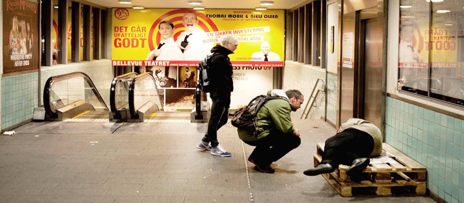 Hjemløs på station - Projekt Udenfor